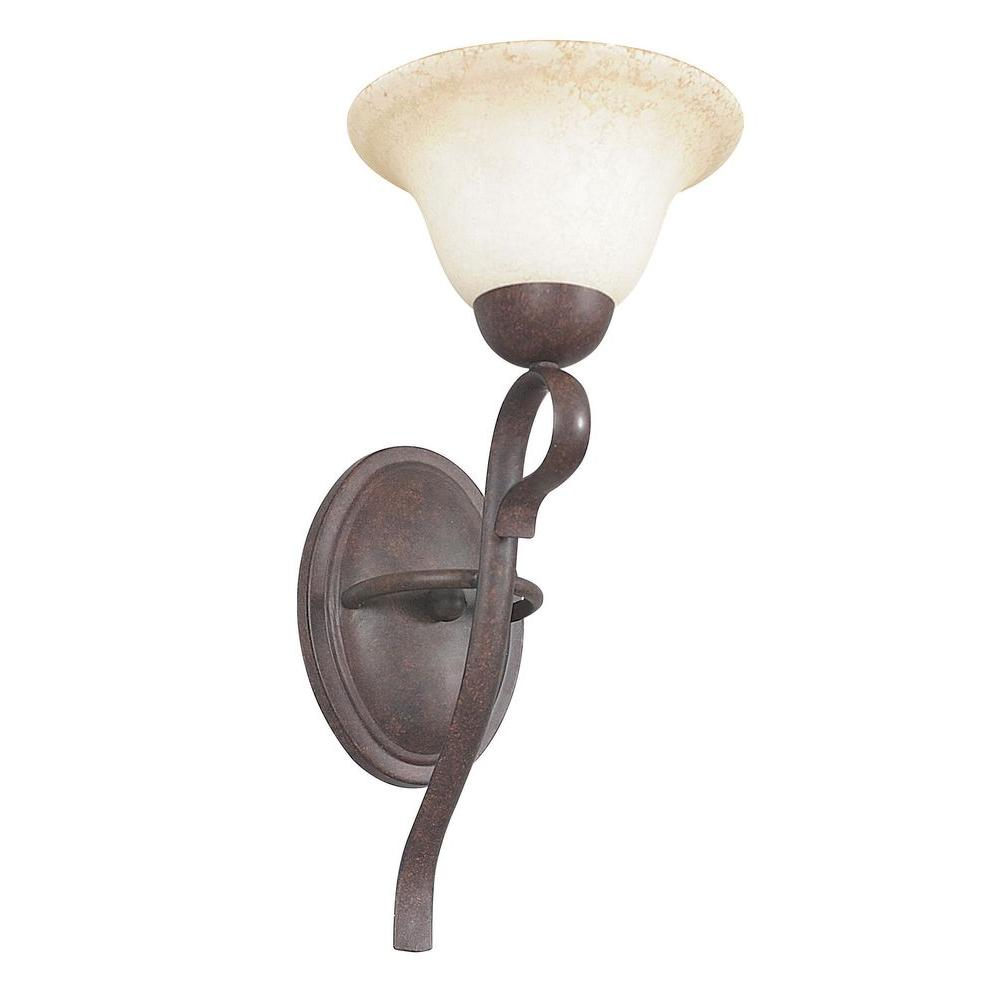 Sunset Tutt 1 Light Oil Rubbed Bronze Sconce