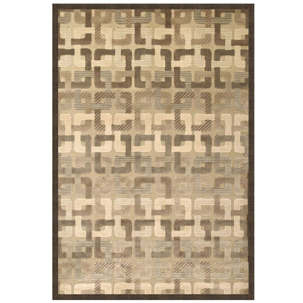 Sams International Napa Blakely Chocolate 5 ft. 3 in. x 7 ft. 6 in. Area Rug