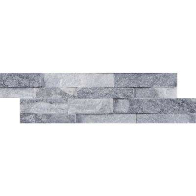 Alaska Gray Mini Ledger Panel 4.5 in. x 16 in. Natural Marble Wall Tile (5 sq. ft. / case)