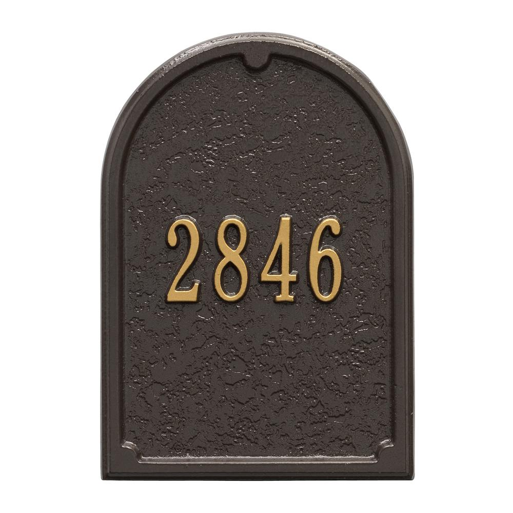 Whitehall Products Mailbox Door Panel In Bronze Gold