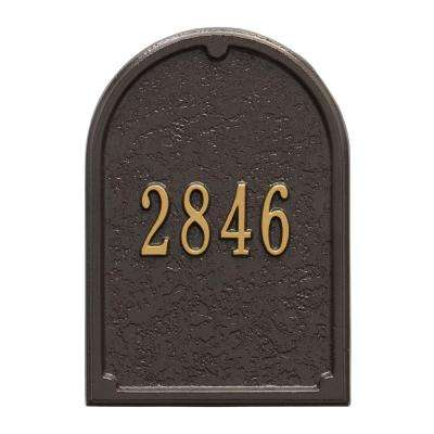 Mailbox Door Panel in Bronze/Gold