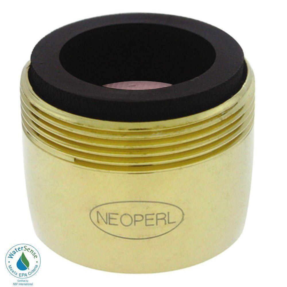 NEOPERL 1.2 GPM Dual-Thread PCA Water-Saving Faucet Aerator in Polished Brass