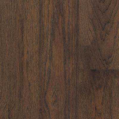 Take Home Sample - Brown Hickory Waterproof Engineered Hardwood Flooring - 5 in. x 7 in.