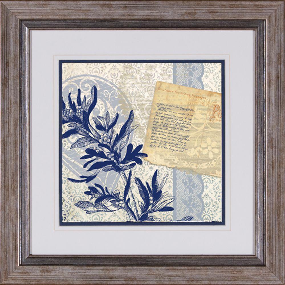 "null 17 in. x 17 in. ""Postcard Bleu B"" Framed Wall Art"