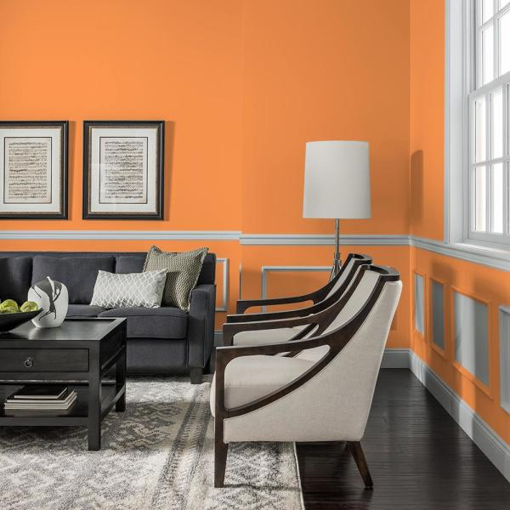 Reviews For Glidden Essentials 1 Gal Hdgo27u Desert Orange Flat Interior Paint Hdgo27ue 01fn The Home Depot