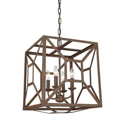 Marquelle 4-Light Weathered Iron Chandelier