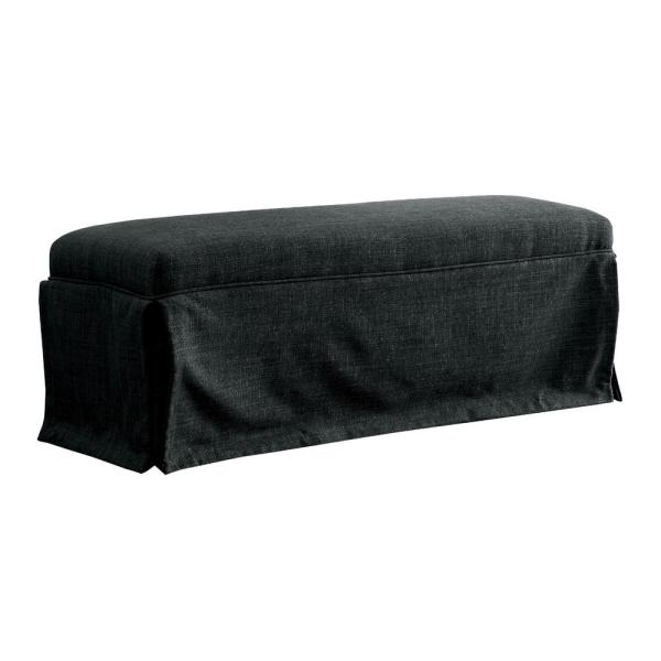 Cowan Dark Gray Upholstered 18 in. H x 48.5 in. W x 18.5 in. D Bench