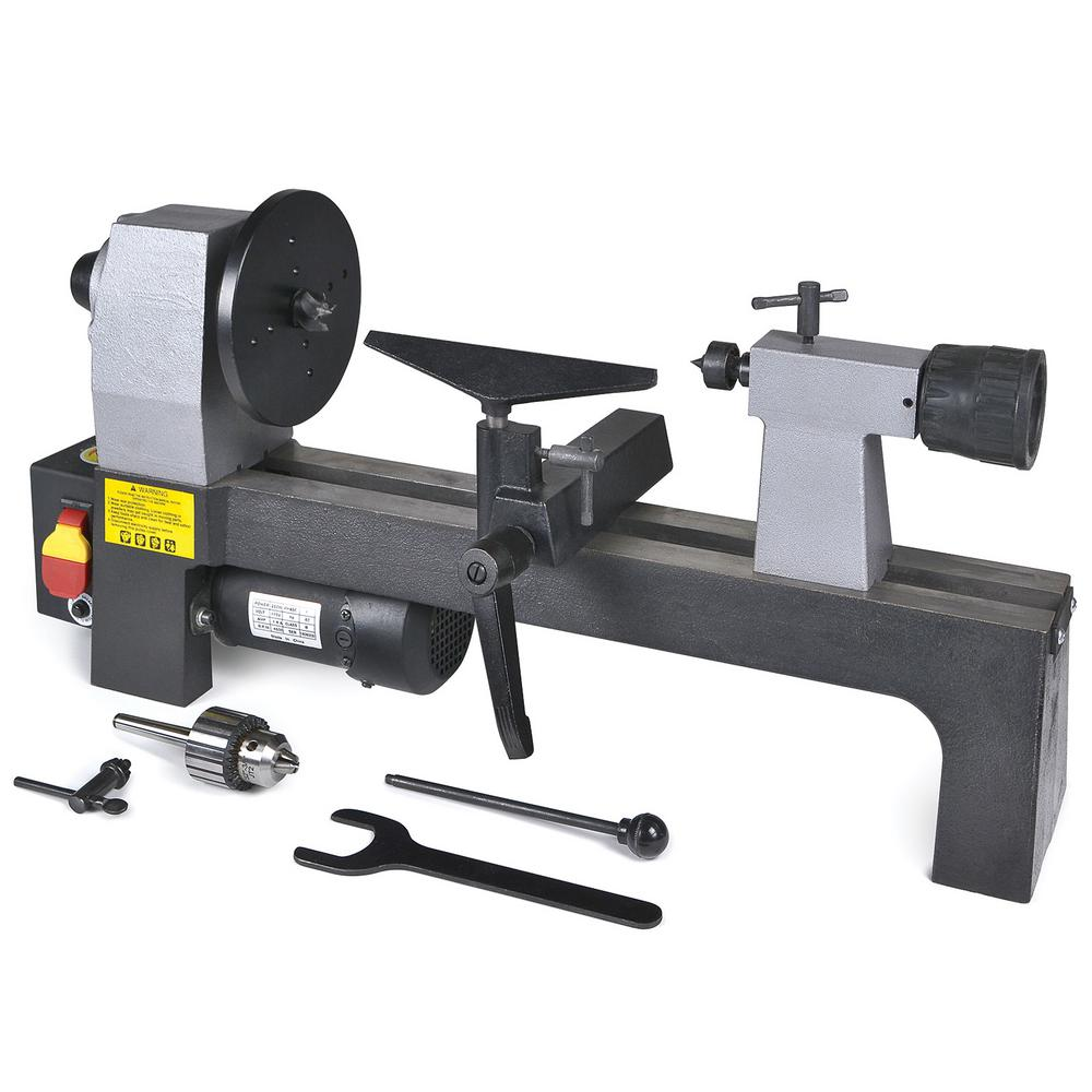 MicroLux 8 in. x 12 in. Variable Speed Wood Turner's Lathe
