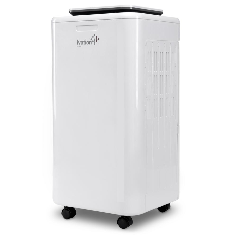 Ivation Ivation 11-Pint Compressor Dehumidifier and Ionizer with Continuous  Drain Hose for upto 216 sq  ft , Small but Powerful