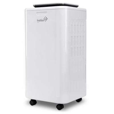 Ivation 11-Pint Compressor Dehumidifier and Ionizer with Continuous Drain Hose for upto 216 sq. ft., Small but Powerful