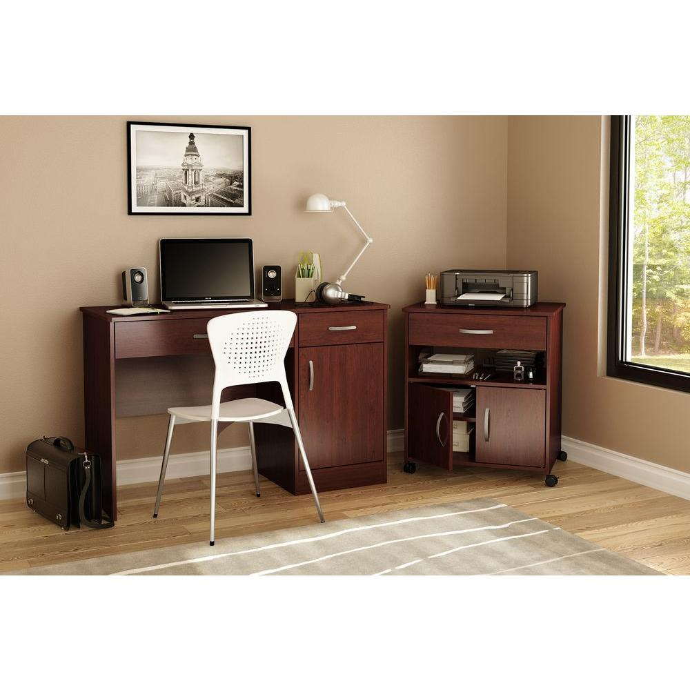 South Shore Axess Royal Cherry File Cabinet-9052691
