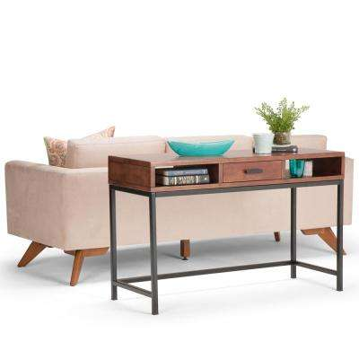 Riordan Russet Brown Storage Console Table