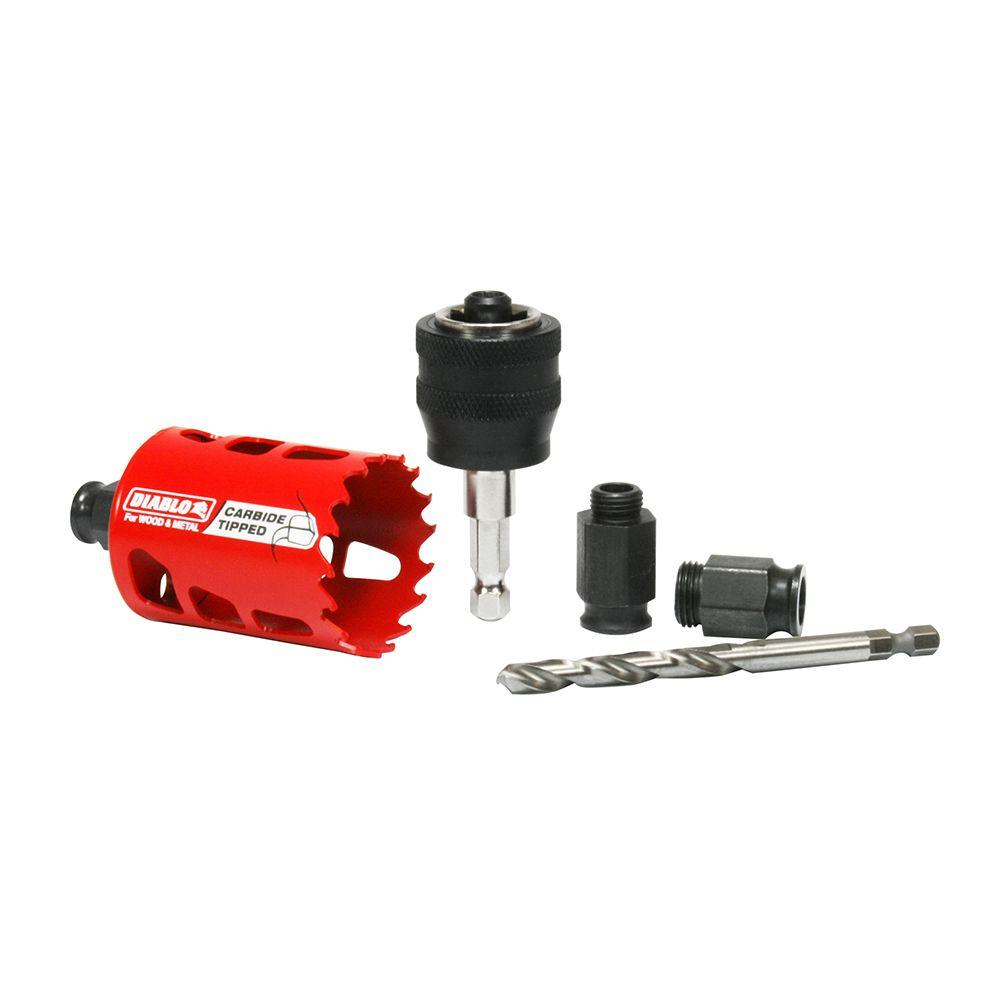 2 in. Carbide-Tipped Hole Saw with SnapLock Plus Mandrel System