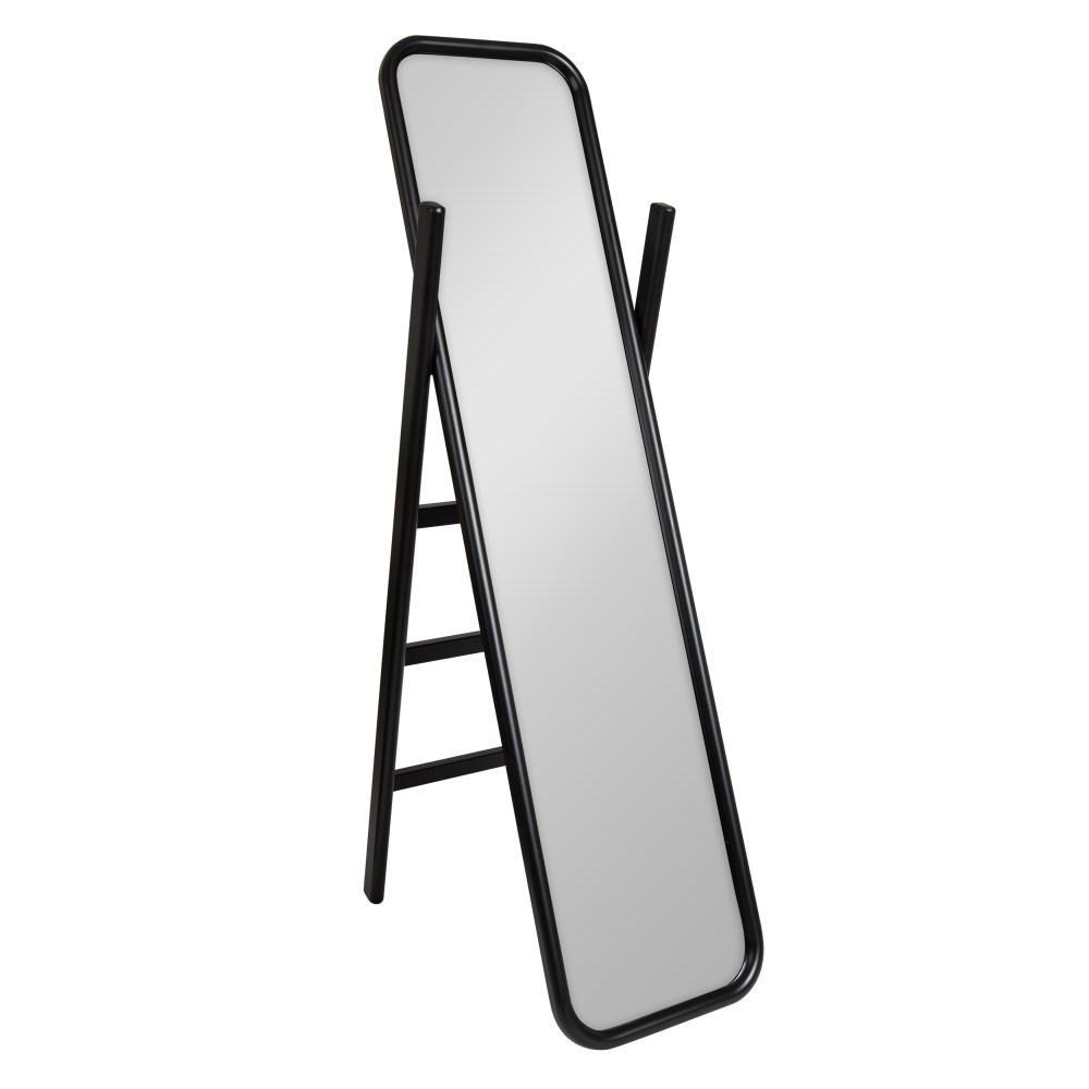 Large Black Plastic Modern Mirror (58 in. H X 16 in. W)