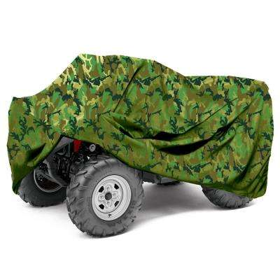 Premium Oxford Material Large 77 in. x 47 in. x 32 in. Waterproof CAMO ATV Cover