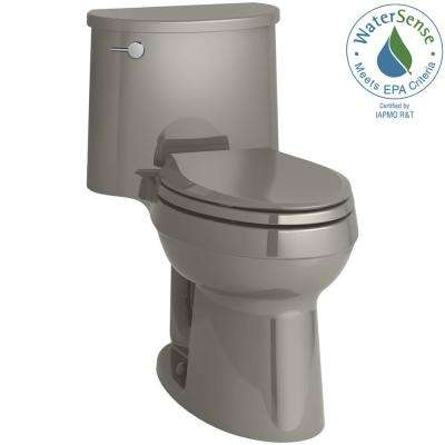 Adair Comfort Height 1-piece 1.28 GPF Single Flush Elongated Toilet with AquaPiston Flush Technology in Cashmere