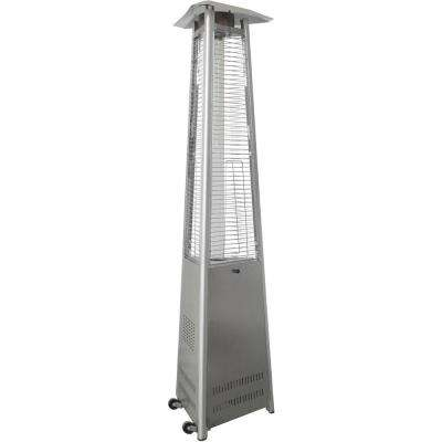 7.5 ft. 42,000 BTU Stainless Steel Triangle Propane Gas Patio Heater