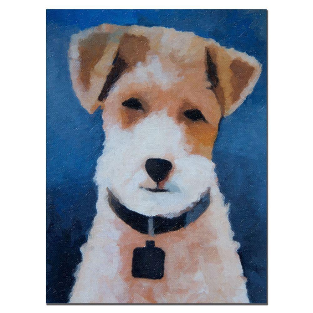 Trademark Fine Art 35 in. x 47 in. Fox Terrier Canvas Art