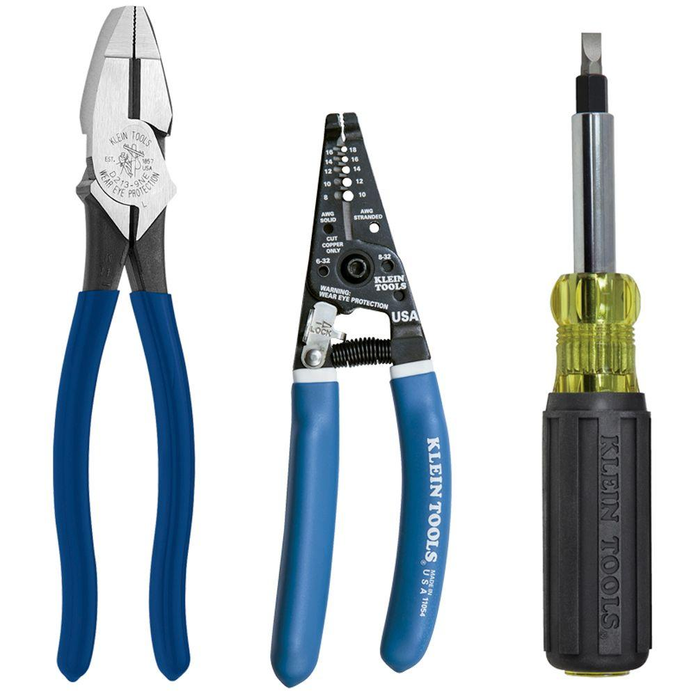 3-Piece Electrician's Tool Kit