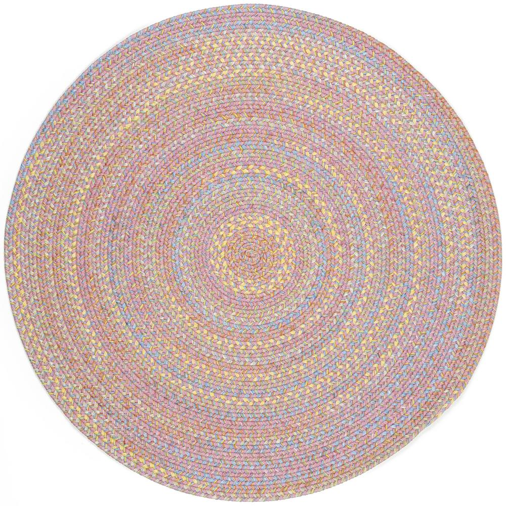 Rhody Rug Play Date Pink Multi 4 Ft X 4 Ft Round Indoor