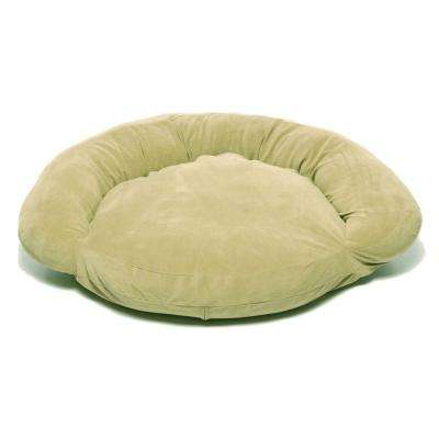 Large Velvet Microfiber Bolster Pet Bed -Sage