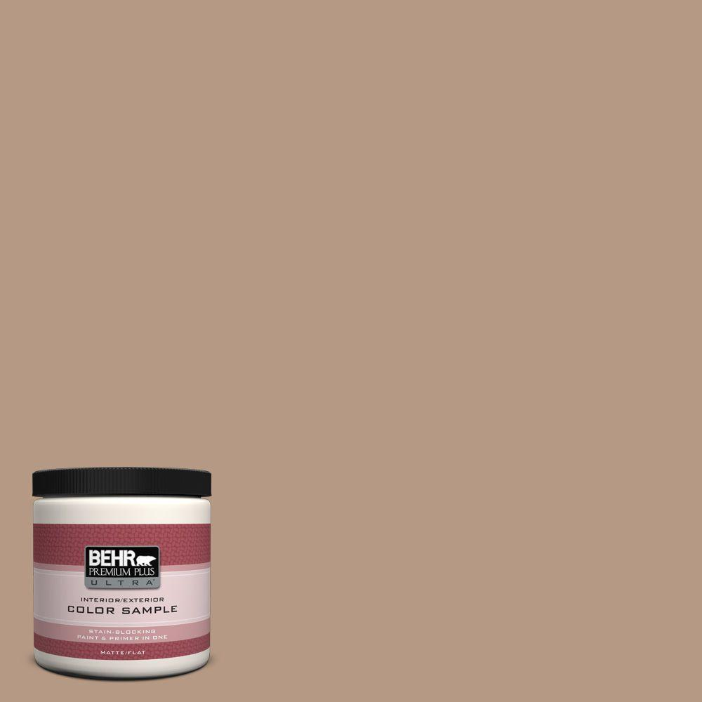 8 oz. #250F-4 Stone Brown Interior/Exterior Paint Sample