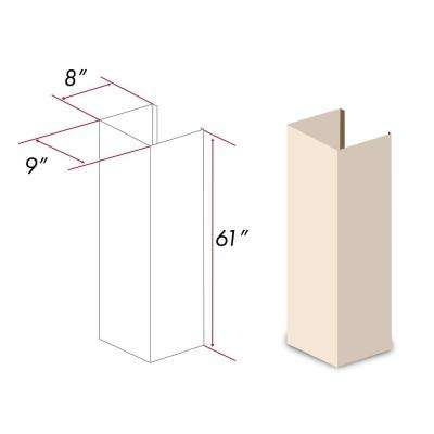 ZLINE 61 in. Wooden Chimney Extension for Ceilings up to 12.5 ft. (KBUF-E)