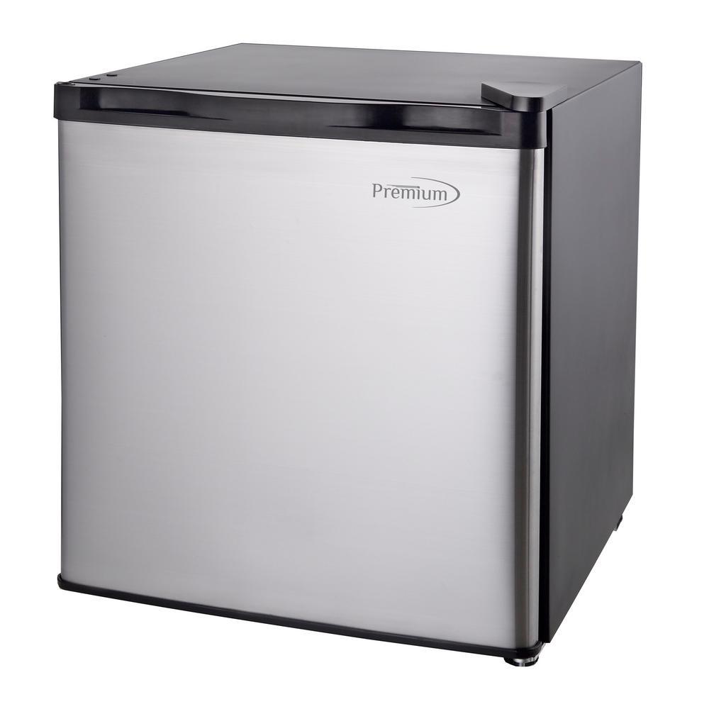 1.6 cu. ft. Mini Refrigerator in Black with Stainless Steel Door