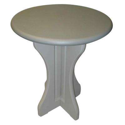Gray 30 in. Resin Patio Bistro Table