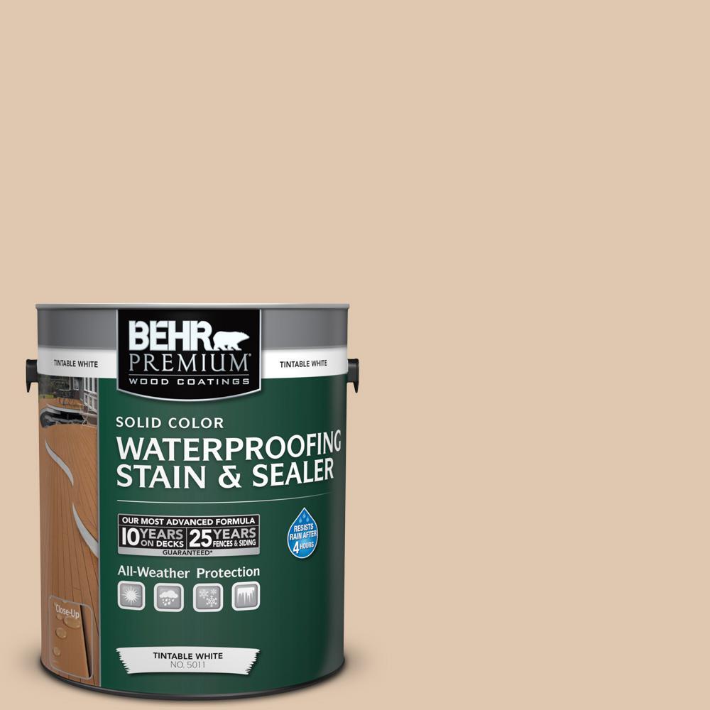 1 gal. #N260-2 Almond Latte Solid Waterproofing Stain and Sealer
