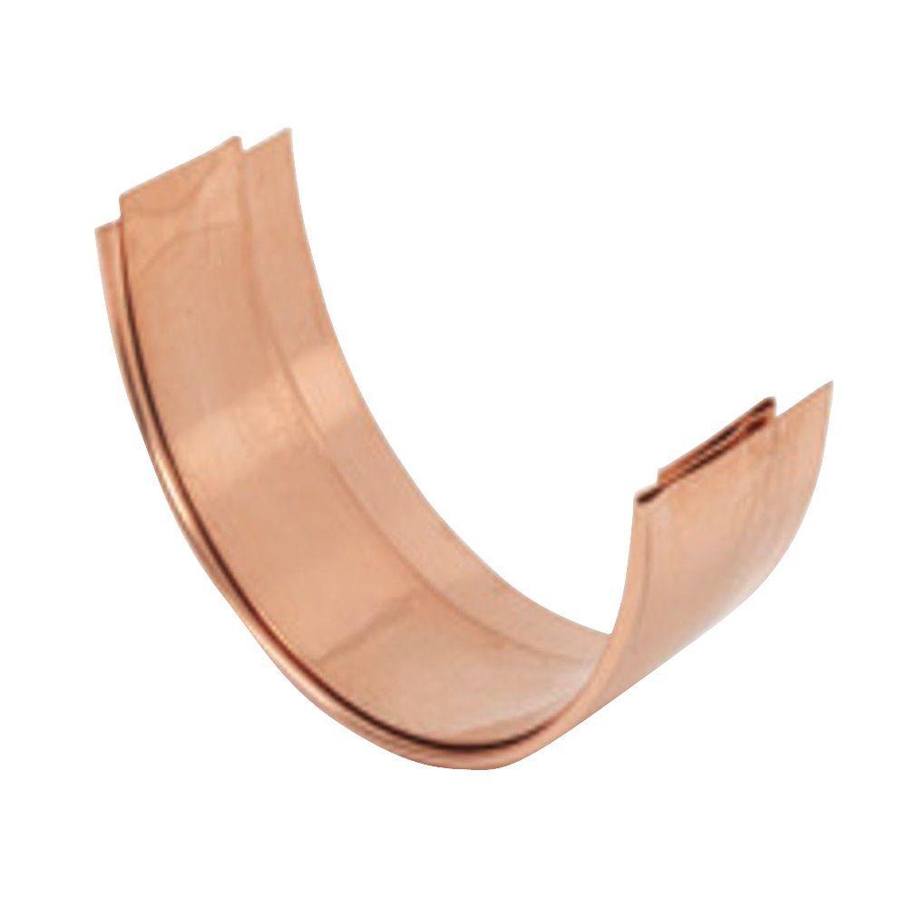 6 in. Half Round Copper Slip Connector
