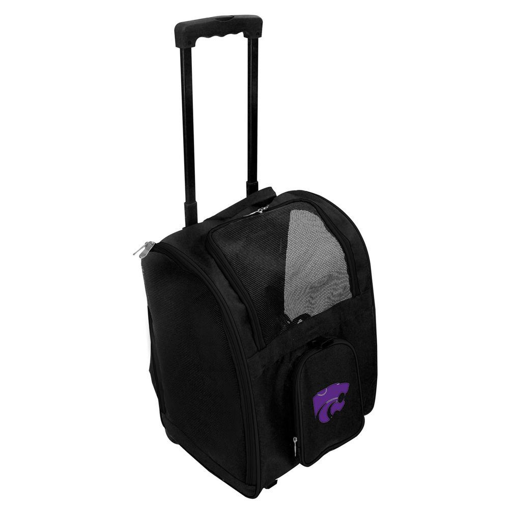Denco NCAA Kansas State Wildcats Pet Carrier Premium Bag with wheels