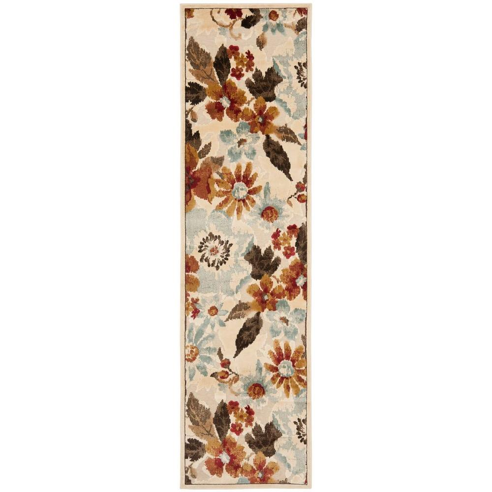 Paradise Cream/Multi 2 ft. 2 in. x 8 ft. Runner