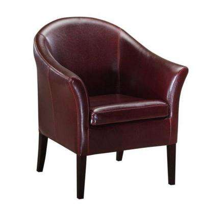 Monte Carlo Burgundy Recycled Leather Club Arm Chair