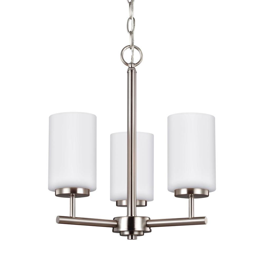 Oslo 3-Light Brushed Nickel Chandelier