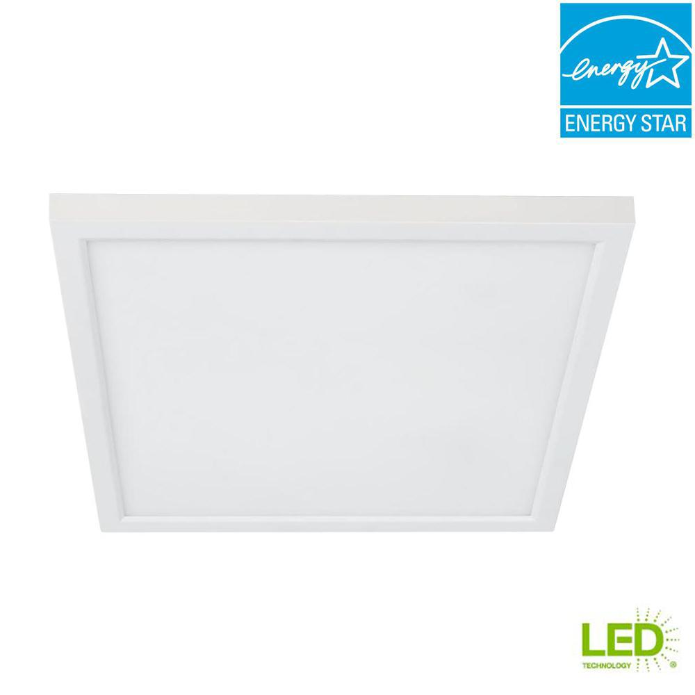 4 in./J-Box 8-Watt Dimmable White Integrated LED Square Flat Panel Ceiling