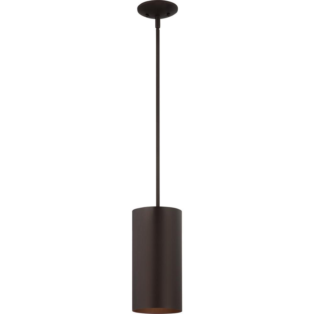 Volume Lighting 1 Light Bronze Aluminum Outdoor Hanging Pendant