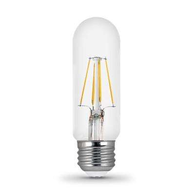 40-Watt Equivalent T10 Soft White Dimmable Filament CEC Clear Glass LED Light Bulb (6-Pack)