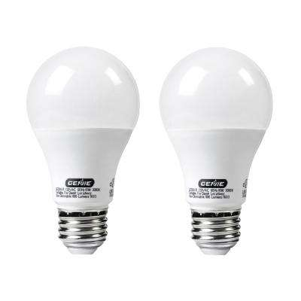 60W Equivalent Garage Door Opener LED Bulb (2-Pack)