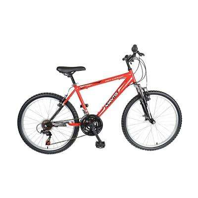 Raptor Hard Tail Mountain Bike, 24 in. Wheels, 16 in. Frame, Boys' Bike in Red