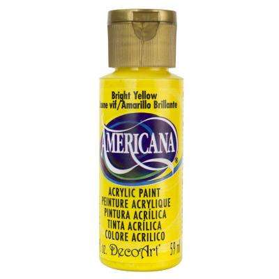 Americana 2 oz. Bright Yellow Acrylic Paint