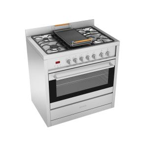 Ancona Gourmet 36 inch 3.8 cu. ft. Freestanding Electric Convection Oven Dual Fuel Range in Stainless with... by Ancona