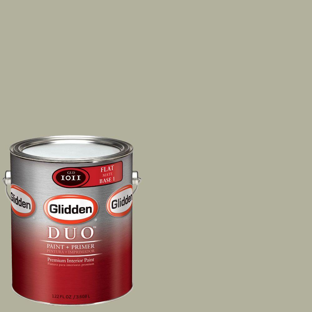 Glidden DUO Martha Stewart Living 1-gal. #MSL234-01F Fennel Seed Flat Interior Paint with Primer - DISCONTINUED
