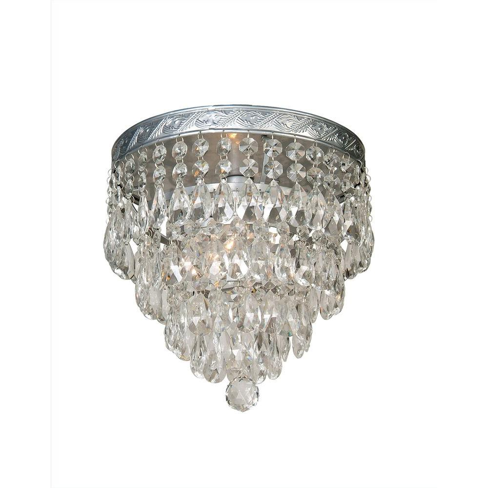Filament Design Xavier 1-Light Silver Chandelier