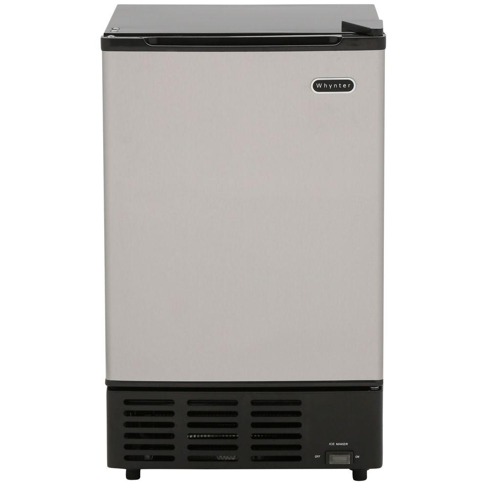 15 in. 12 lb. Built-In Ice Maker in Stainless Steel