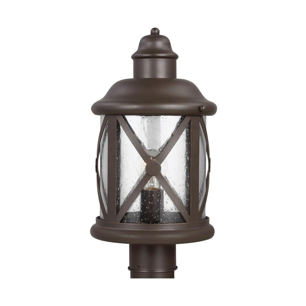 Sea Gull Lighting Lakeview 1-Light Antique Bronze Outdoor