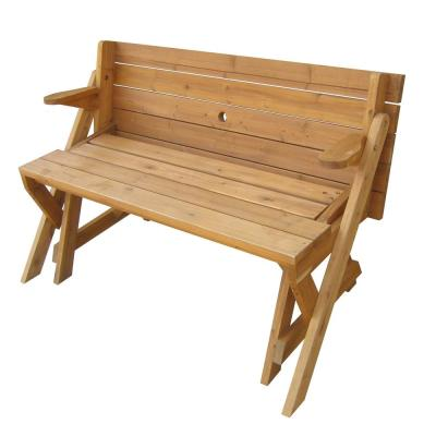 Natural Wood Interchangeable Picnic Table and Bench