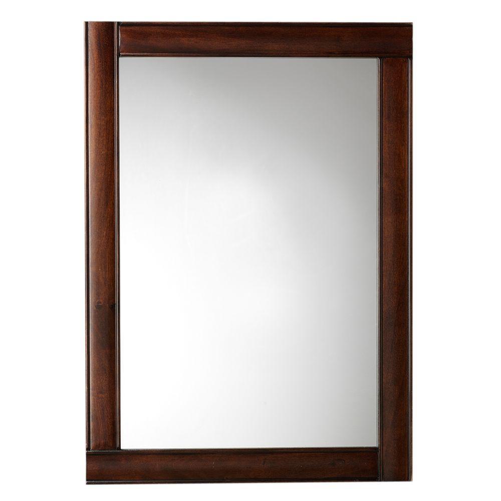 W mirror in dark walnut frame