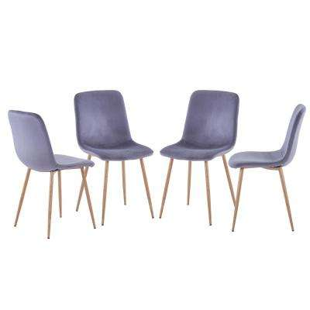 Grey Modern Dinning Chairs(Set of 4)
