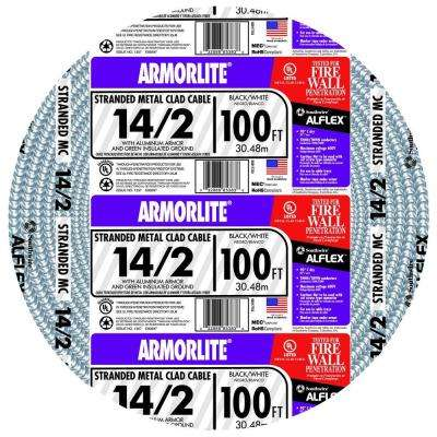14/2 x 100 ft. Stranded CU MC (Metal Clad) Armorlite Cable